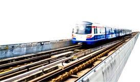 Prepari il viaggio all'alta velocità sulla ferrovia isolata sul backgrou bianco Fotografie Stock