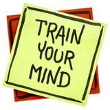 Prepari il vostro consiglio o ricordo di mente immagini stock