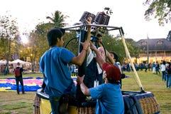 Prepari l'aerostato durante Fotografia Stock