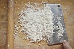 Prepari la torta di riso fotografia stock