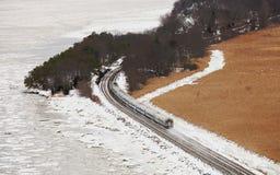 Prepari in neve alla montagna dell'orso con i colori dell'inverno Fotografia Stock Libera da Diritti