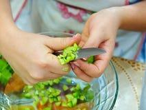Prepari un'insalata fotografia stock