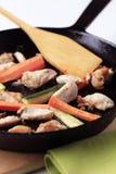 Preparing A Chicken Stir Fry Stock Photo