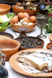 Preparing ancient Roman food Royalty Free Stock Photos