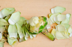 Preparing artichoke Stock Image