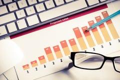 Preparing average sales report royalty free stock photos