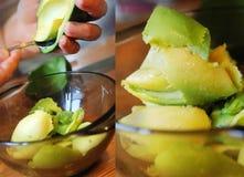 Preparing avocado Stock Images