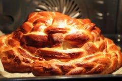 Preparing baking basket from dough Royalty Free Stock Image