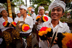 Preparing for Balinese New year Stock Images