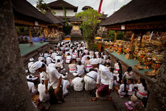 Preparing for Balinese New year Royalty Free Stock Photo
