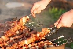 Preparing barbecue Stock Photo