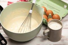 Preparing Batter For Pancakes Royalty Free Stock Image