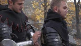 Preparing for battle. In the outodoor 4K stock video