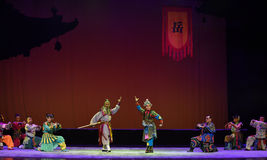 "Preparing for battle--Peking opera ""Little Worriors of Yeuh's family"" Stock Photo"