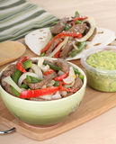 Preparing Beef Fajitas Royalty Free Stock Photos