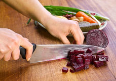 Preparing beet Stock Images