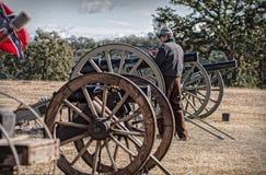 Preparing the Big Guns Royalty Free Stock Photos