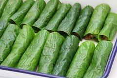 Preparing bo la lot, vietnamese cuisine Royalty Free Stock Image