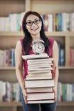 Preparing books for exams Stock Image