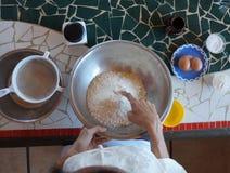 Preparing bread Royalty Free Stock Photography