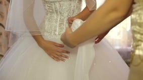 Preparing The Bride stock video