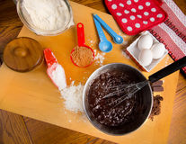 Preparing Brownies Stock Photos