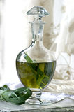 Preparing buffalo grass vodka. Buffalo grass herbs steeped in alcohol at home Stock Images
