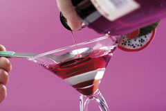 Preparing Campari cocktail, close-up Stock Image