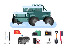 Preparing car to winter Stock Photography