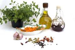 Preparing carrot salad Royalty Free Stock Images