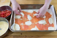 Preparing casserole. Royalty Free Stock Images