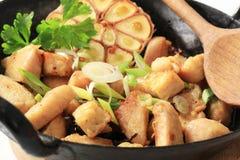 Preparing Chicken Stir Fry Stock Image