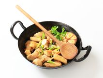 Preparing Chicken Stir Fry Stock Images