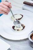 Preparing chocolate dessert Stock Photo