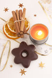 Preparing for christmas. Christmas accessories Royalty Free Stock Images