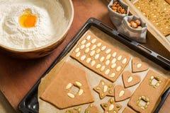 Preparing for Christmas baking gingerbread Royalty Free Stock Photo