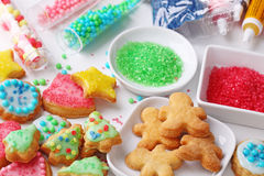 Preparing christmas cookies. Close up Stock Photography
