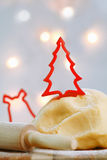 Preparing Christmas cookies Stock Photos