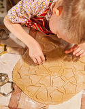 Preparing christmas cookies Stock Images