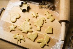 Preparing christmas cookies Royalty Free Stock Image