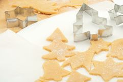 Preparing Christmas cookies Royalty Free Stock Photo