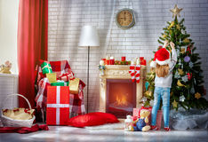 Preparing for Christmas Stock Photography