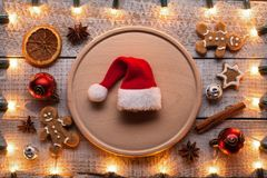 Preparing for christmas and the holiday season - with xmas decor stock images