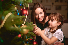 Preparing Christmas tree Royalty Free Stock Photo