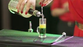Preparing Cocktails stock video footage