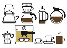 Preparing coffee Stock Photos