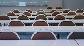 Preparing of conference room in university royalty free stock photos