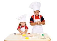 Preparing the cookies stock image