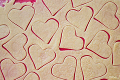 Preparing cookies. On a silicone mat Royalty Free Stock Photo