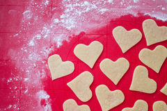 Preparing cookies. On a silicone mat Royalty Free Stock Images